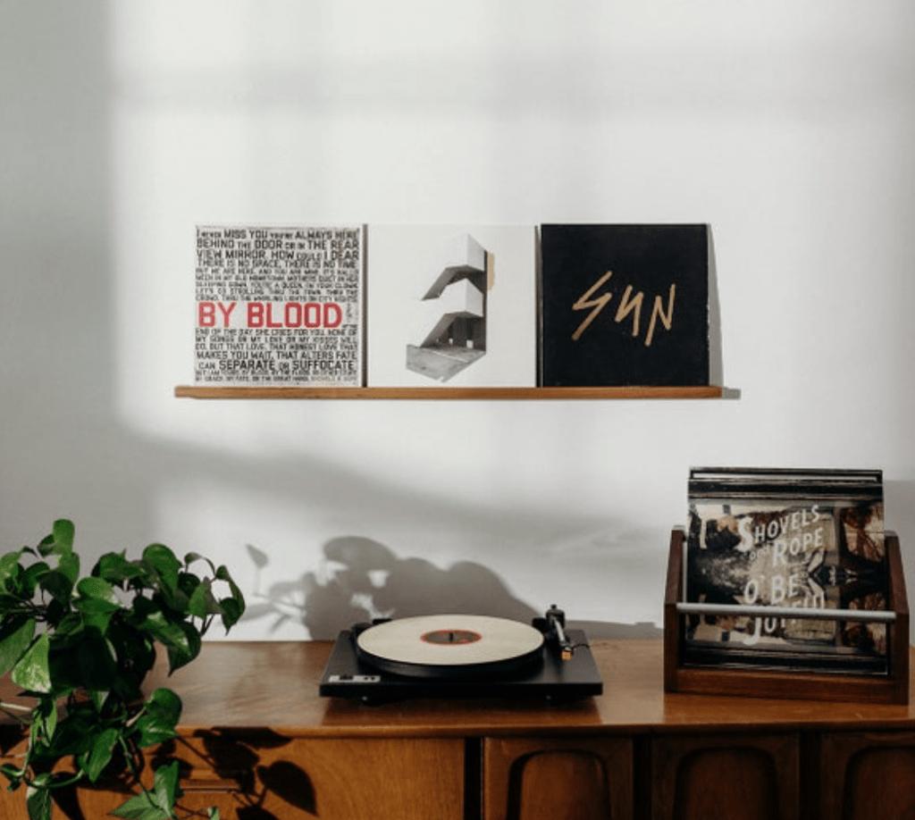 Record shelf
