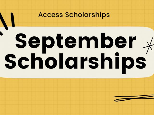 27 Scholarships to Apply for in September 2021